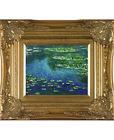 "by Overstockart Water Lilies by Claude Monet with Victorian Frame Oil Painting Wall Art, 18"" x 16"""