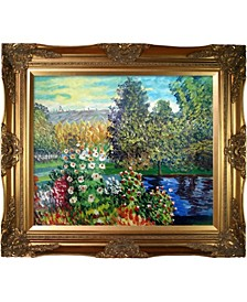 "by Overstockart Corner of The Garden at Montgeron by Claude Monet with Victorian Frame Oil Painting Wall Art, 32"" x 28"""
