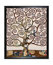 """By Overstockart Tree of Life Luxury Line with Studio Wood Angle Frame, 22.5"""" x 26.5"""""""