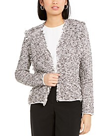 Mixed-Yarn Open-Front Cardigan, Created For Macy's