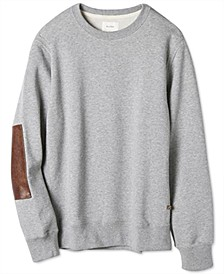 Men's Dover Regular-Fit Sweatshirt with Leather Elbow Patches