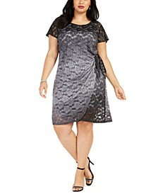 Plus Size Side-Tie Lace Dress