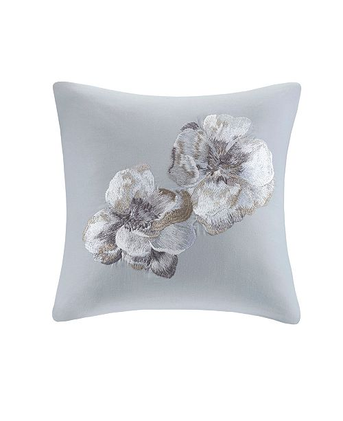 "Natori Casa Nouveau 18"" x 18"" Embroidered Decorative Pillow"