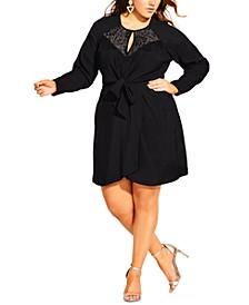 Trendy Plus Size Lace Charm Dress