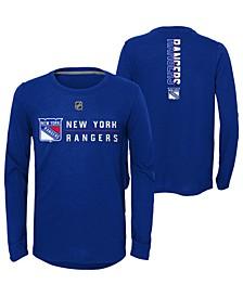 Big Boys New York Rangers Deliver Long Sleeve T-Shirt