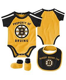 Baby Boston Bruins Hard @ Play Bib & Bootie Set
