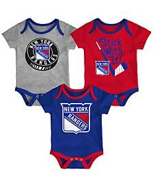 Baby New York Rangers Cuddle & Play Creeper Set