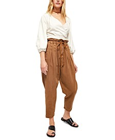 Margate Pleated Pull-On Trouser Pants