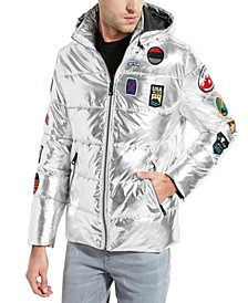 Men's Silver Puffer Coat