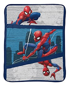 Spiderman City Swinger Baby Sherpa Throw