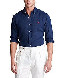 Men's Classic Fit Linen Shirt