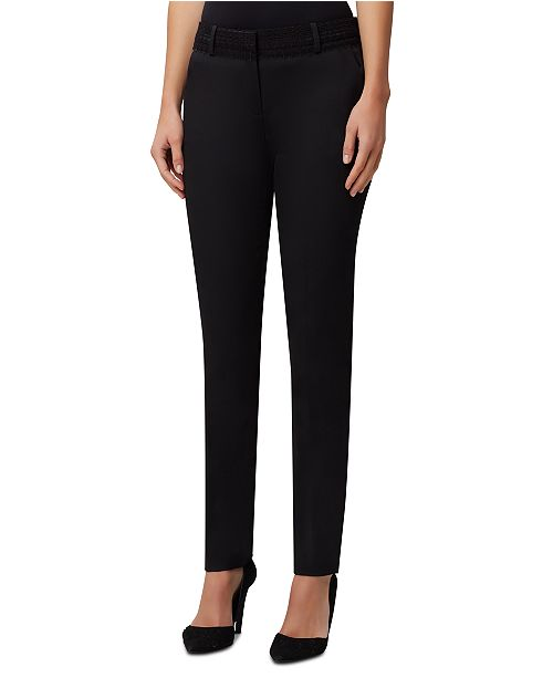 Tahari ASL Petite Lace-Trim Dress Pants