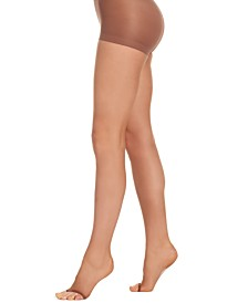 Hanes Women's   Silk Reflections Ultra Sheer Control Top Run Resistant Toeless Sheers 0B376