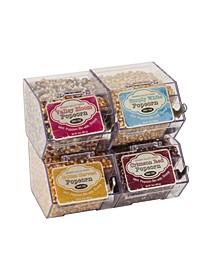 Mini Bulk Popcorn Bins- Set of 4