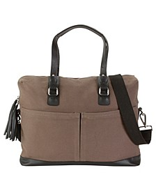 Canvas and Genuine Leather Work Bag