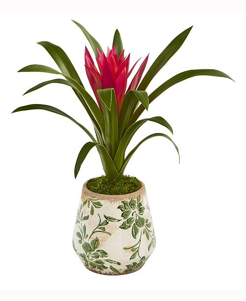 Nearly Natural 15in. Ginger Artificial Plant in Floral Vase
