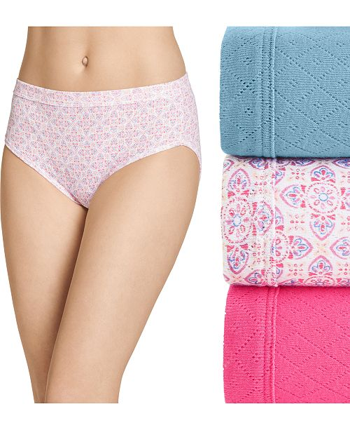 Jockey Elance Breathe Hipster Underwear 3 Pack 1540, also available in extended sizes
