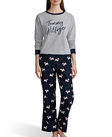 Women's Novelty Long Sleeve & Flannel Pants Pajama Set, Online Only