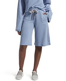 Solid Boyfriend Pajama Shorts, Online Only