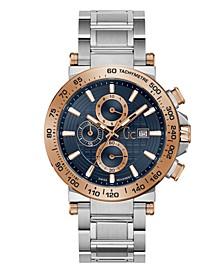 Gc Men's Urban Code Chrono Stainless Steel Bracelet Watch 44mm