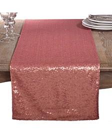 Shimmering Sequin Evening Dinner Party Event Table Runner