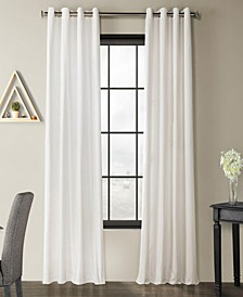 Solid Country Cotton Grommet Curtain Panel