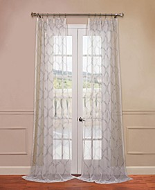 Florentina Embroidered Sheer Curtain Panel