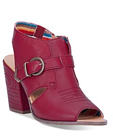 Women's Stirrup Leather Sling Back Boot