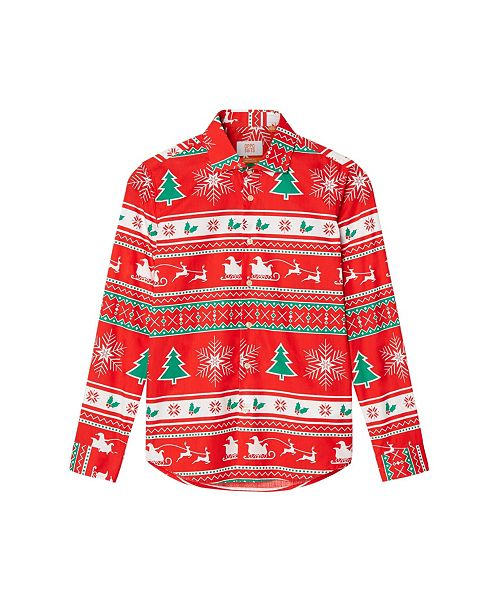 OppoSuits Big Boys Winter Wonderland Christmas Shirt