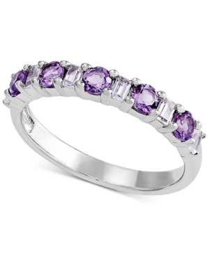 Amethyst (1/2 Ct. T.w.) & Lab-created White Sapphire (1/4 Ct. T.w.) Band In Sterling Silver