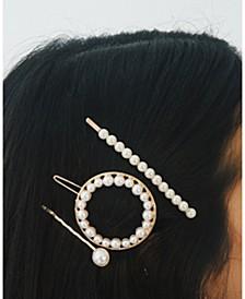 3-Pc. Pearl Hair Clip Set