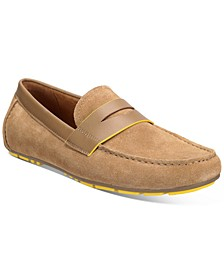 Men's Tuck Suede Drivers, Created for Macy's