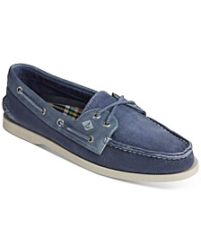 Men's Authentic Original 2-Eye Garment Wash Boat Shoes