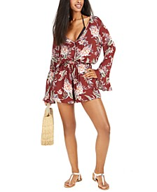 Printed Romper Swim Cover-Up, Created for Macy's