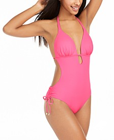 Solid Cutout One-Piece Swimsuit, Created for Macy's