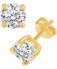 Diamond Stud Earrings (3/8 ct. t.w.) in 14k White Gold