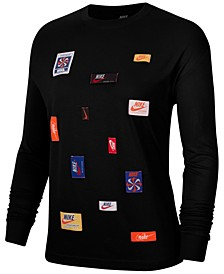 Sportswear Cotton Icon Clash Long-Sleeve T-Shirt