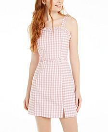 Derek Heart Juniors' Cotton Gingham-Print Dress