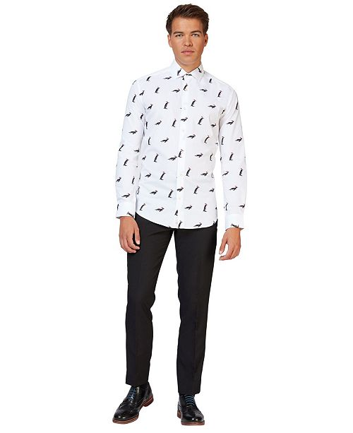 OppoSuits Men's Christmas Penguins Christmas Shirt