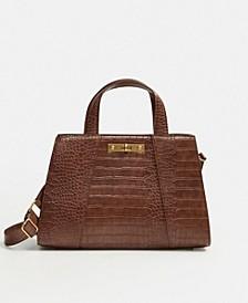 Croc-Effect Tote Bag