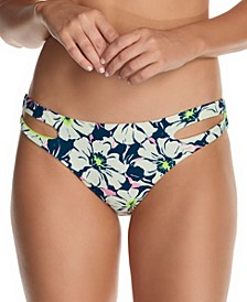 Juniors' In Bloom Weekend Cutout Bikini Bottoms