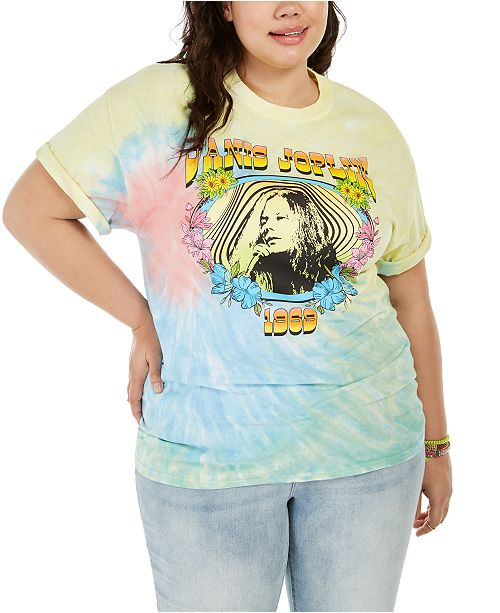 Love Tribe Hybrid Trendy Plus Size Janis Joplin T-Shirt, Created For Macy's