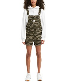Camo-Print Denim Shortalls