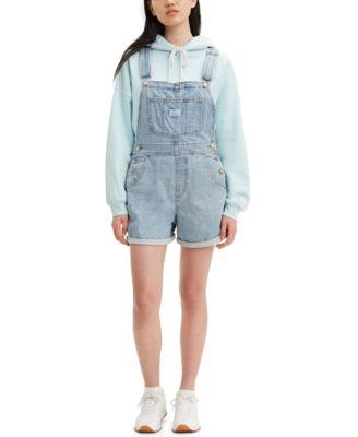 Cotton Denim Shortalls