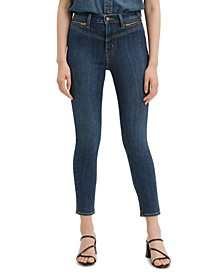 721 High-Rise Zip Front Skinny Ankle Jeans