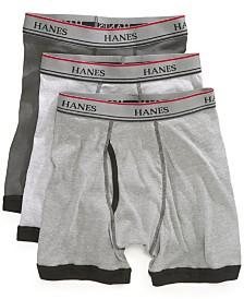 Hanes Platinum 3-Pk. Contrast-Hem Boxer Briefs, Little Boys & Big Boys