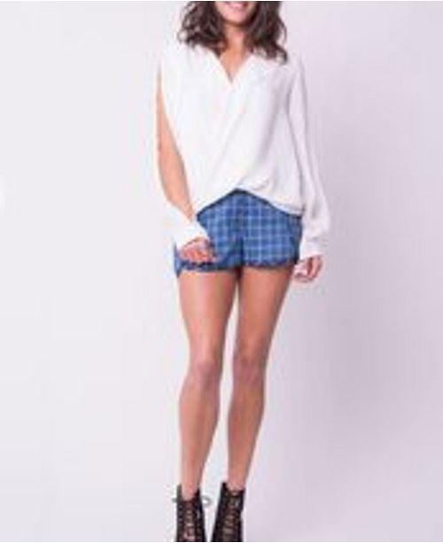 OCIIMI Plaid Robin Mini Shorts