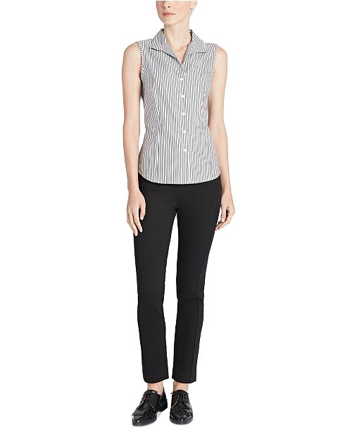 Jones New York Cotton No-Iron Striped Shirt