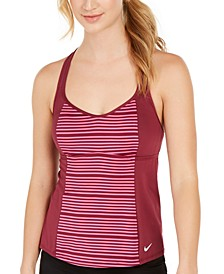 Striped Racerback Tankini Top