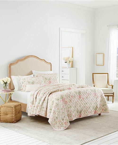 Laura Ashley Breezy Floral Full/Queen Quilt-Sham Set